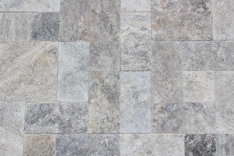 Photo of beautiful natural stone pavers outdoors